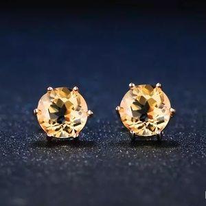 Citrine & 18k Gold Plated Earring 101000